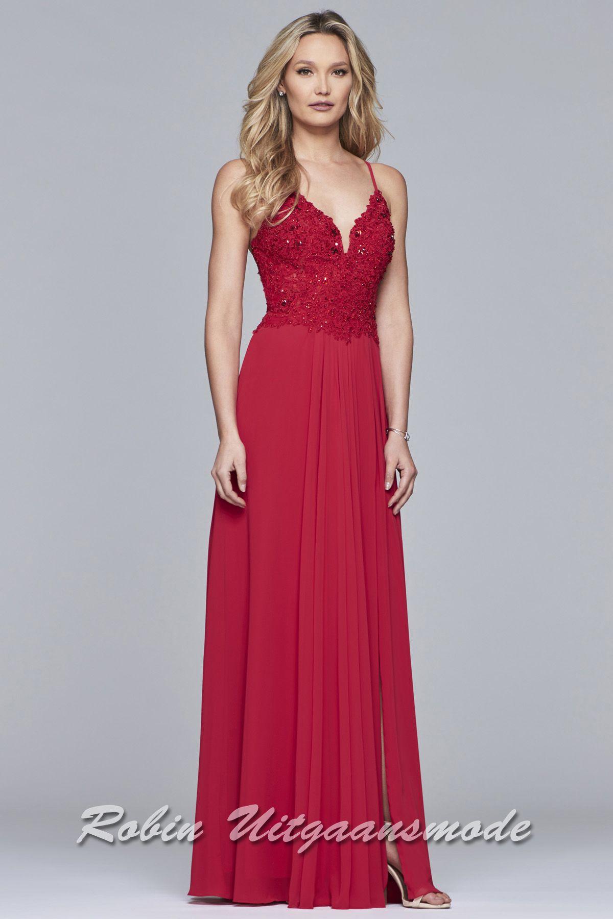 7d4401ae21f92d Rode gala jurk