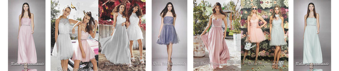 Long and short dresses suitable for dress codes at a wedding