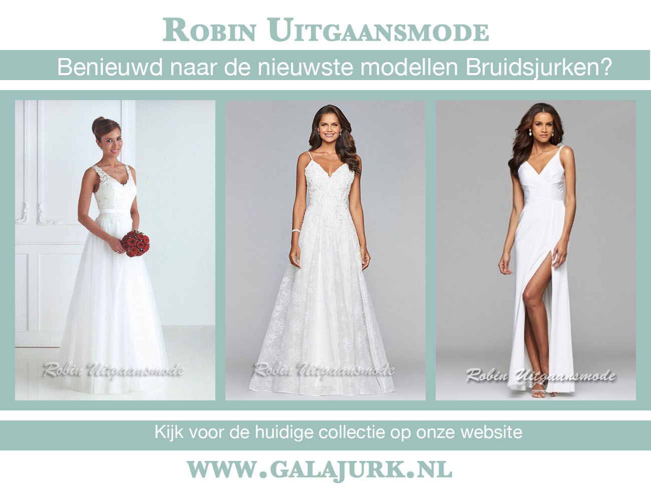 Elegant wedding dresses evening wear and party wear - Dressing modellen ...