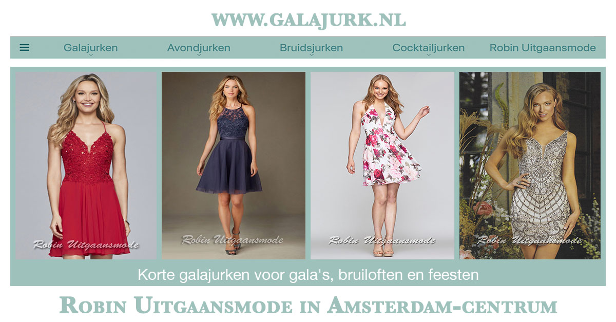 Galajurken Amsterdam Centrum.Korte Galajurken Stijlvolle Korte Jurkjes Voor Elke Feest Robin