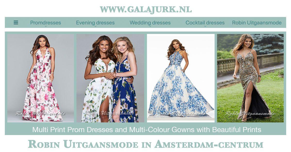 Multi Print Prom Dress