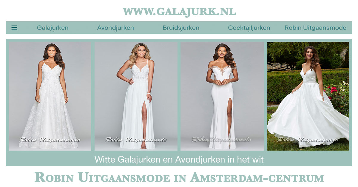 Galajurken Amsterdam Centrum.Witte Galajurken En Avondjurken In Het Ivoorwit Robin