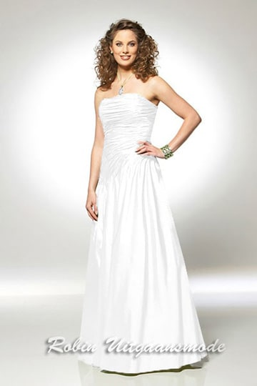 Ivory wedding gown with a draped strapless bodice low priced | modelnr b-u4-1