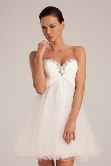 Beaded sweetheart strapless sweet16 dress with short tule skirt | modelnr c-a1-3