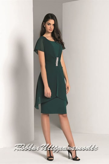 Short evening dress with short sleeves available in small and large sizes. | modelnr c-a1-63