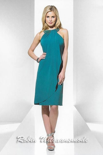 Straight short evening dress with wrap over the knee | modelnr c-u1-97