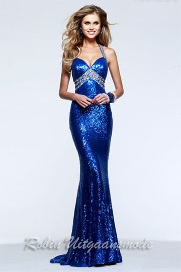 Sparkle and shine prom dress with side cutouts and silver centre beading. | modelnr g-2-98