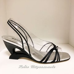 Open Prom shoe with black straps, sale € 35, - in size 36